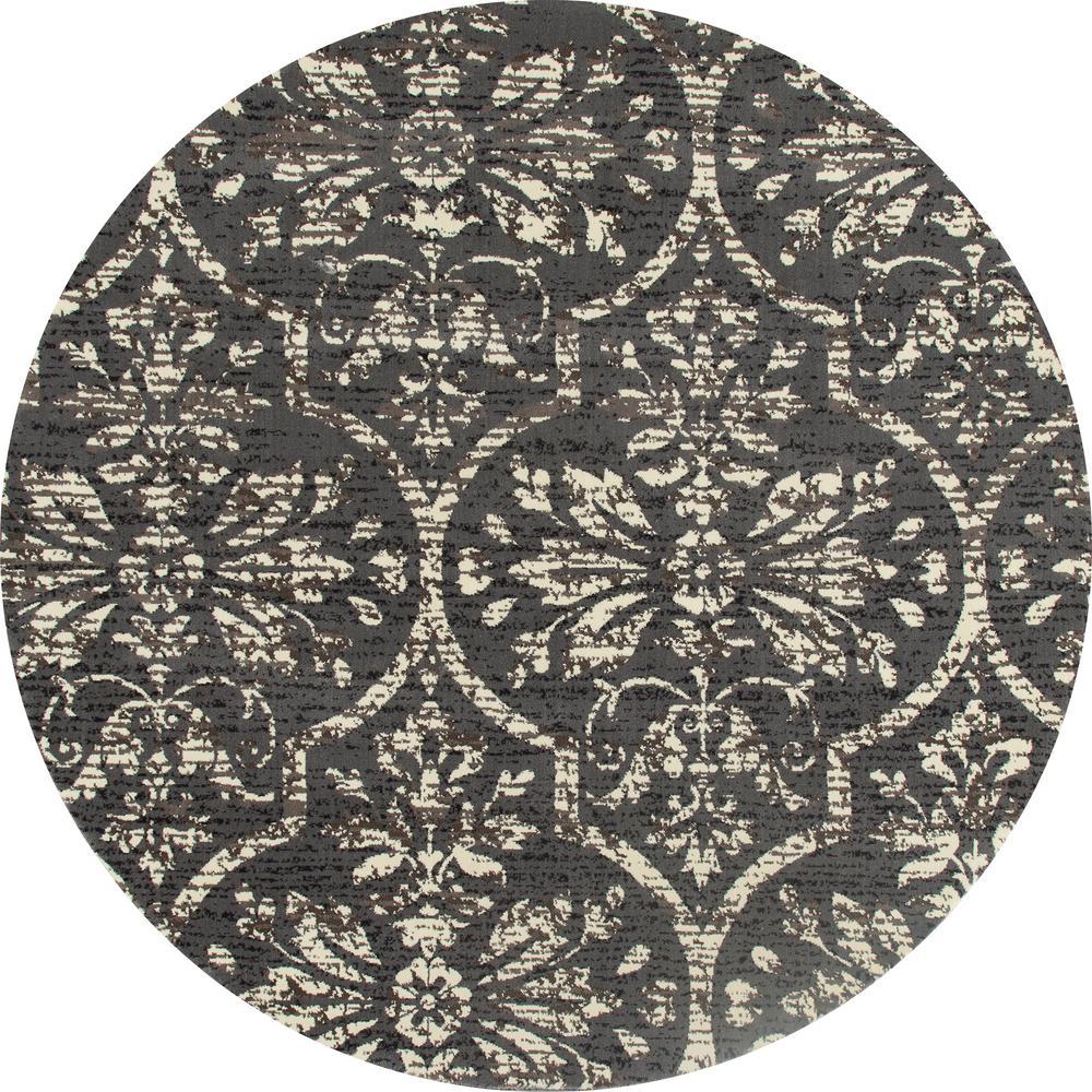 Art Carpet London Bud Vase Grey 5 Ft. 3 In. X 5 Ft. 3 In