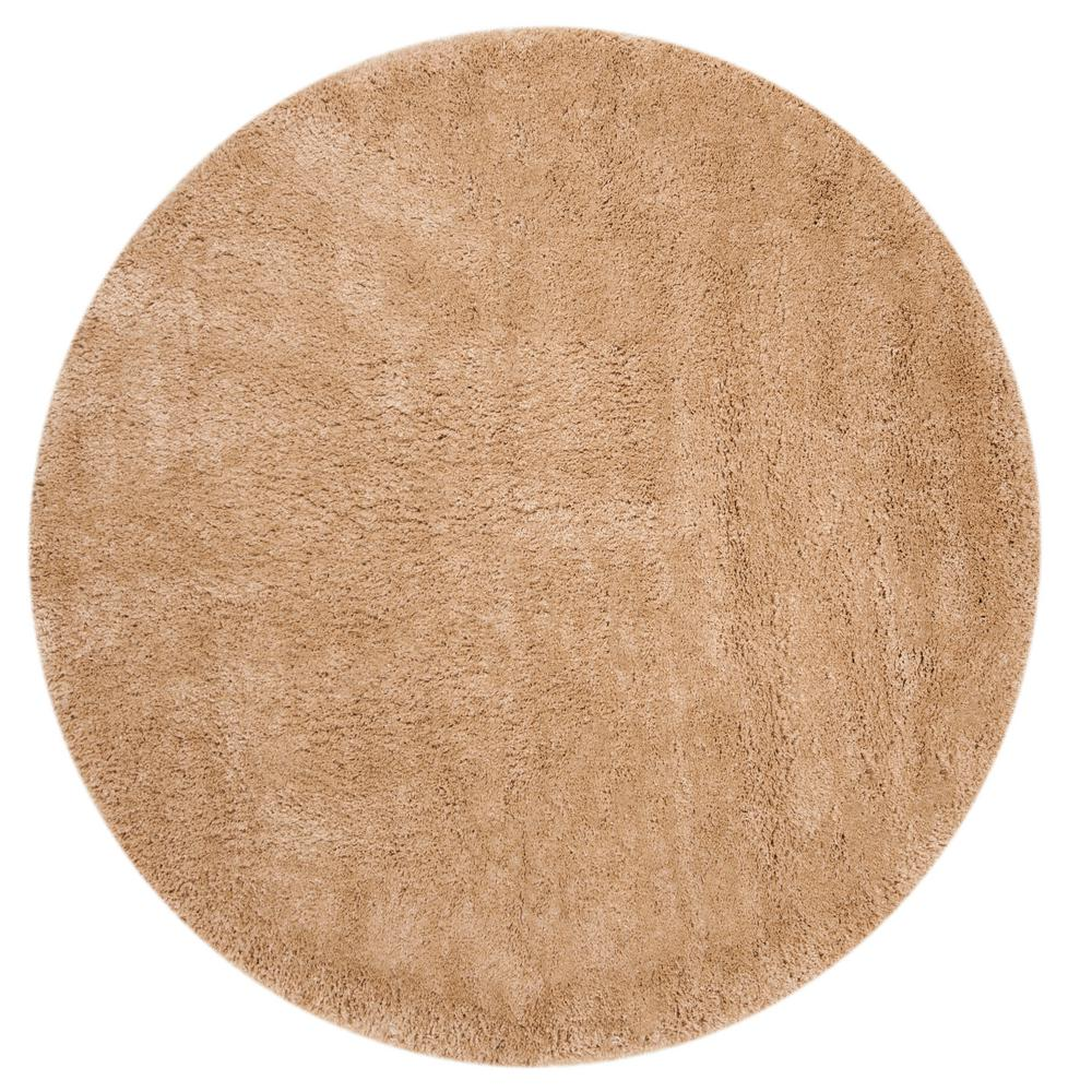 Safavieh Colorado Shag Champagne 6 ft. 7 in. x 6 ft. 7 in. Round Area Rug