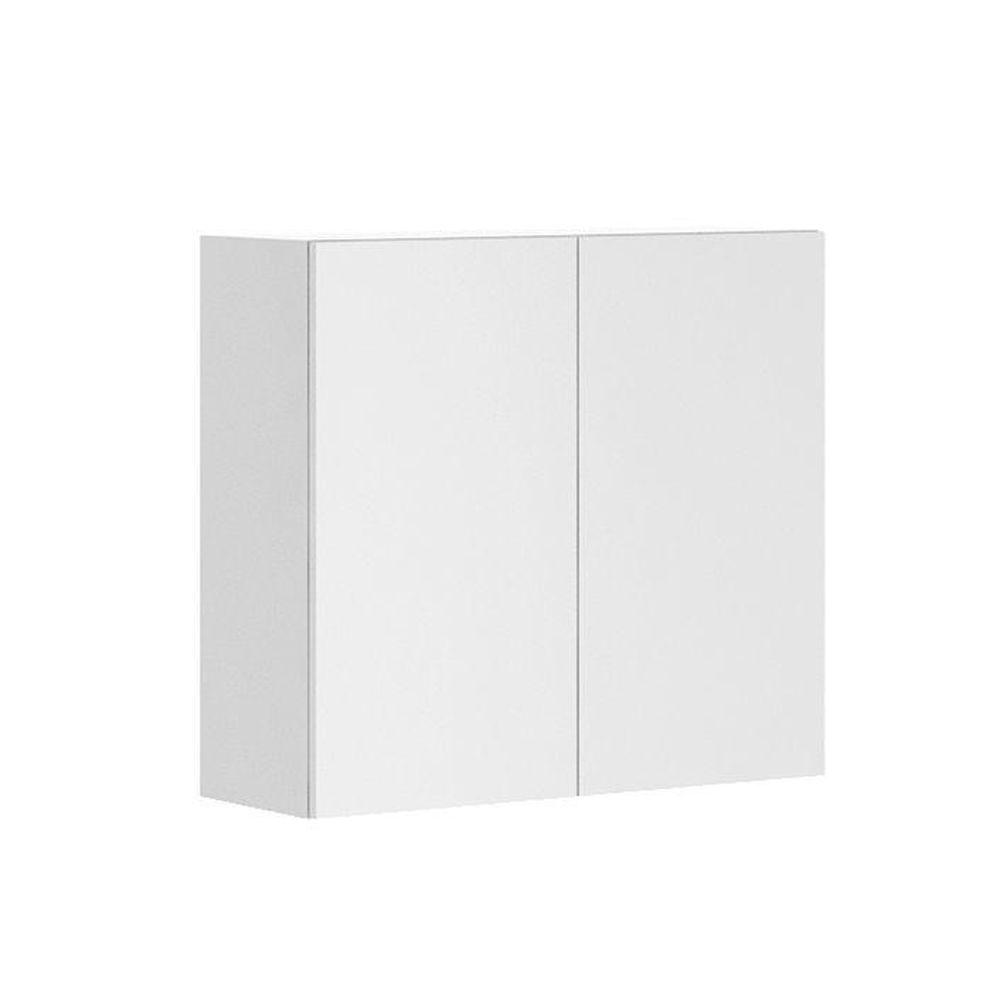 Fabritec Ready to Assemble 33x30x12.5 in. Alexandria Wall Cabinet in White Melamine and Door in White