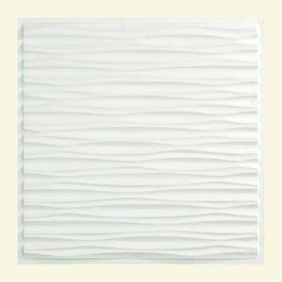 Dunes 2 ft. x 2 ft. Vinyl Lay-In Ceiling Tile in Matte White