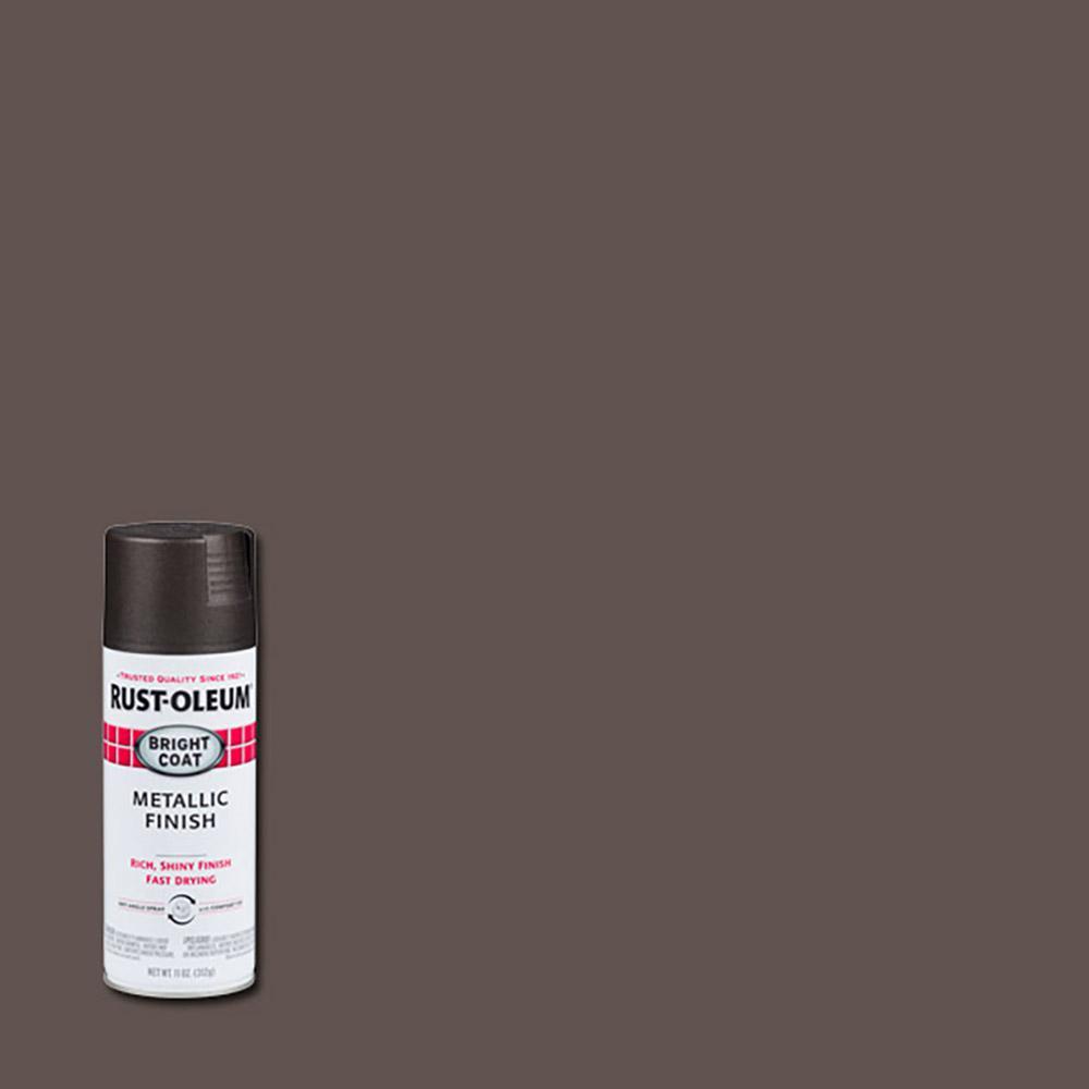 rustoleum stops rust 11 oz protective enamel bright coat dark bronze spray paint