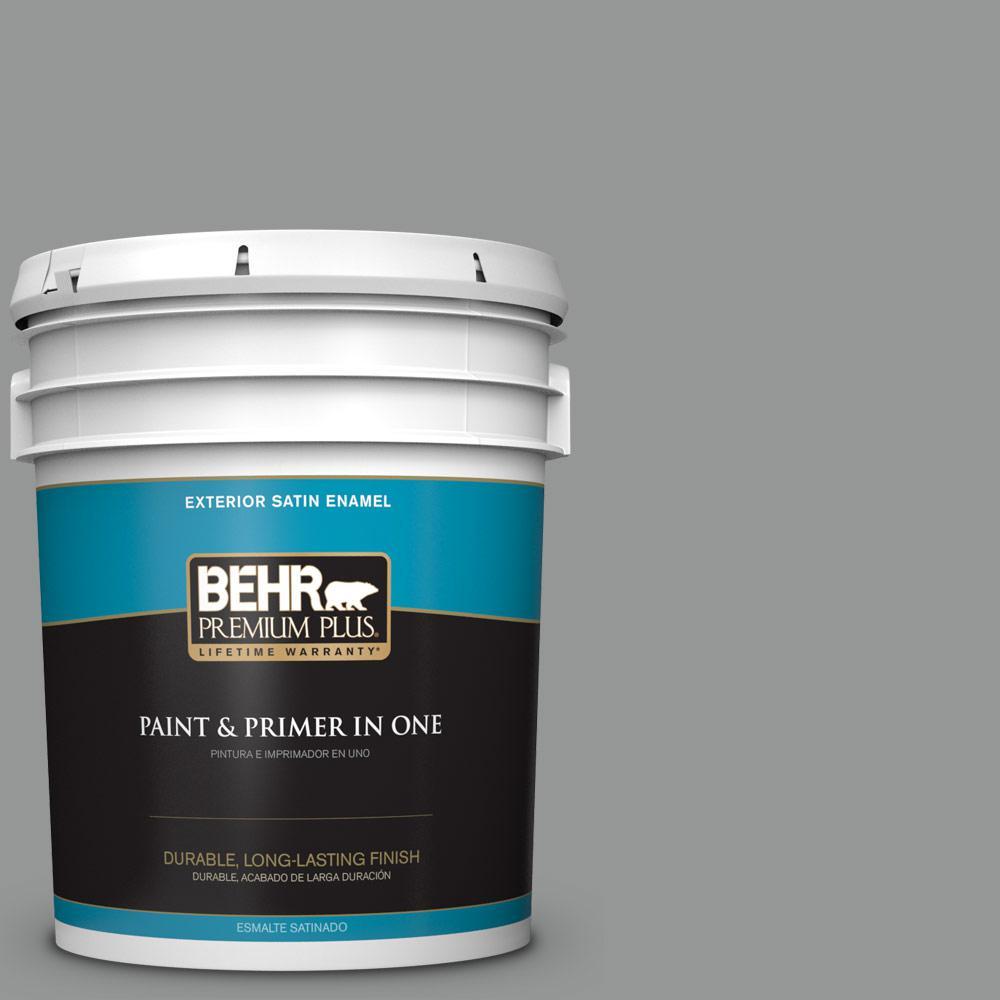 5 gal. #PPU24-19 Shark Fin Satin Enamel Exterior Paint