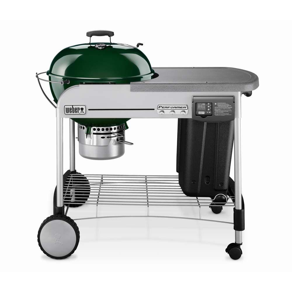 Weber Performer Platinum 22-1/2 in. Charcoal Grill in Green