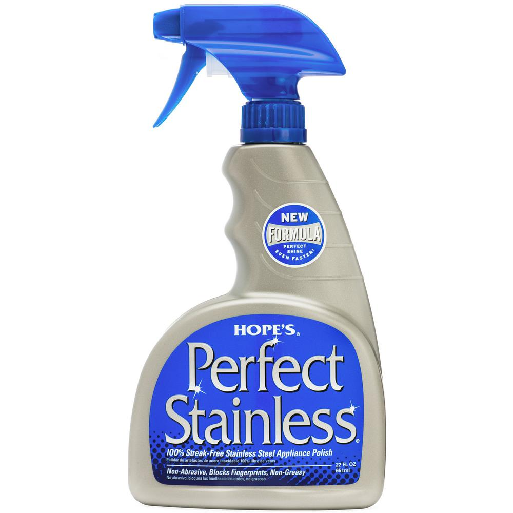 Hope's 22 oz. Perfect Stainless 100% Streak-Free Stainless-Steel Polish