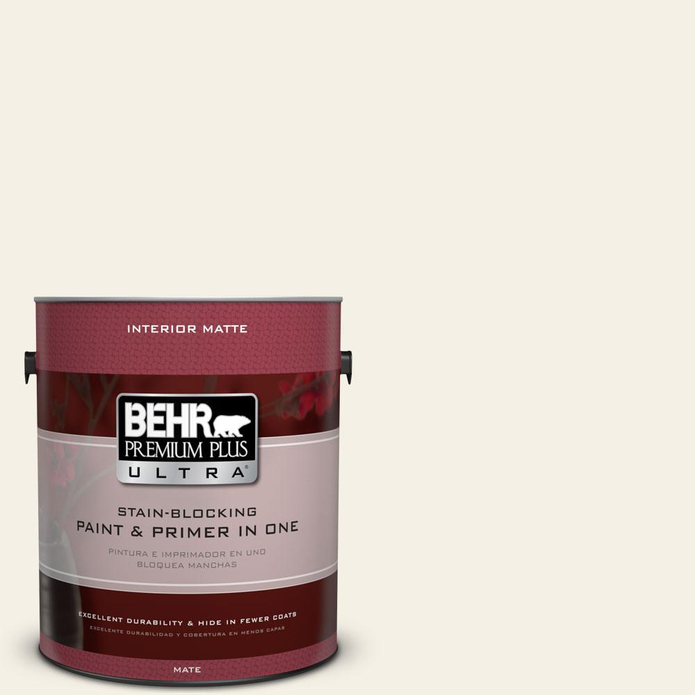 1 gal. #BWC-01 Simply White Matte Interior Paint and Primer in