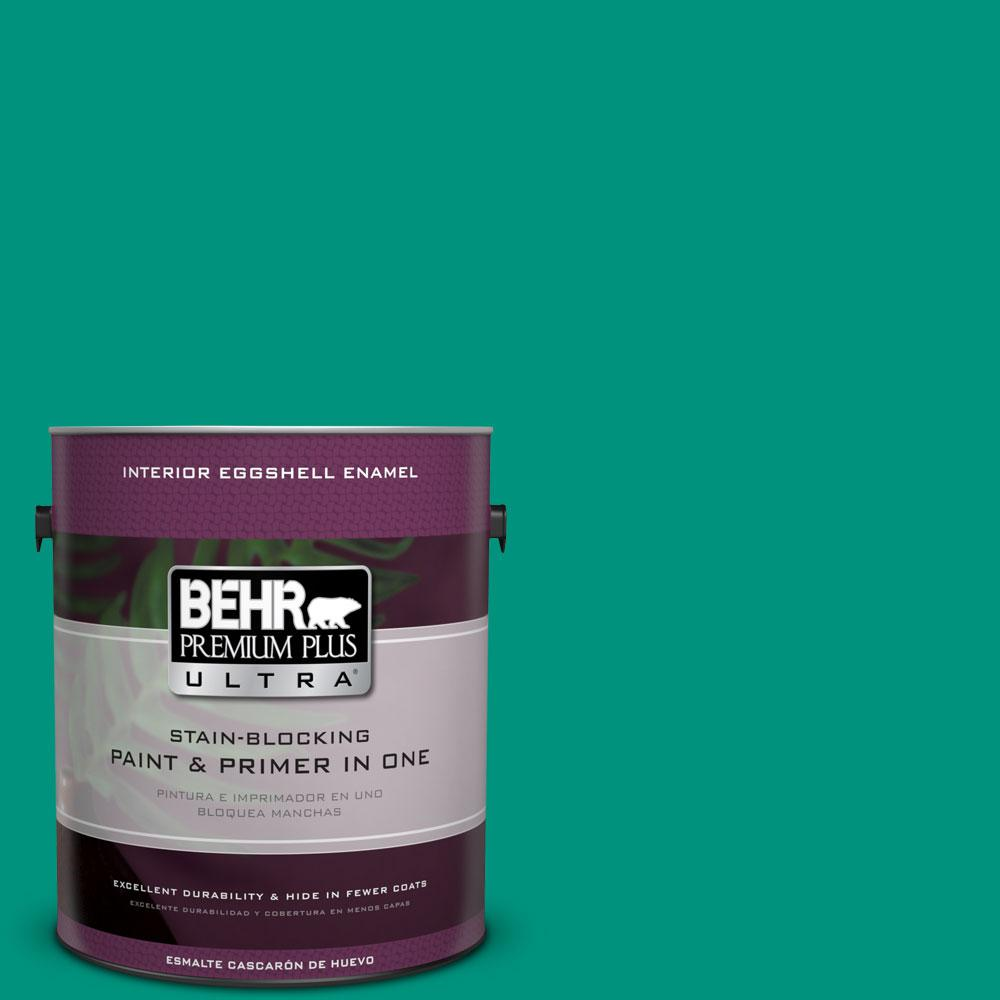 BEHR Premium Plus Ultra 1-gal. #S-G-480 Aqua Waters Eggshell Enamel Interior Paint