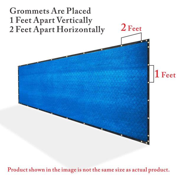 Colourtree 5 Ft X 190 Ft Blue Privacy Fence Screen Hdpe Mesh Windscreen With Reinforced Grommets For Garden Fence Custom Size 5x190fs 6 The Home Depot