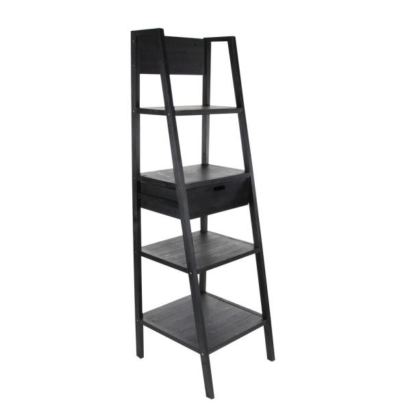 Litton Lane 23 in. L x 21 in. W Black Wooden