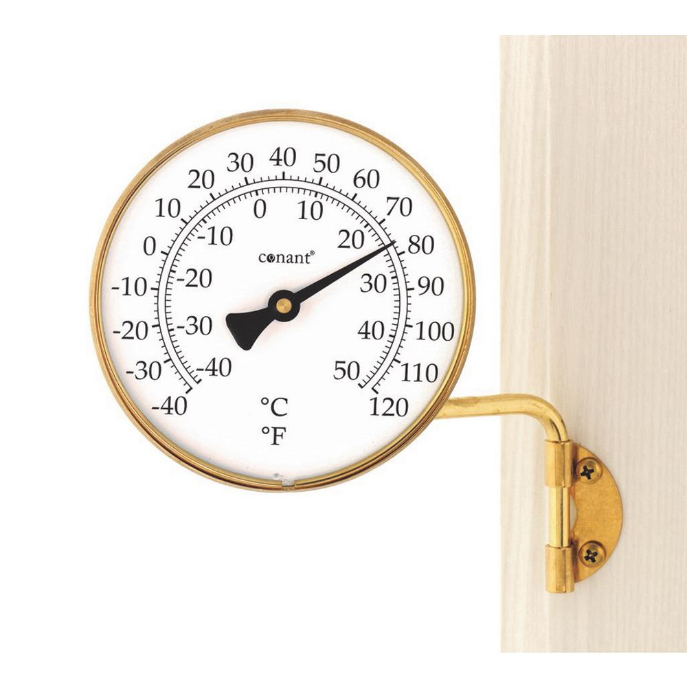 WEEMS & PLATH Vermont Dial Thermometer Living in Brass