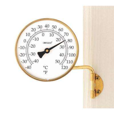 Vermont Dial Thermometer Living in Brass