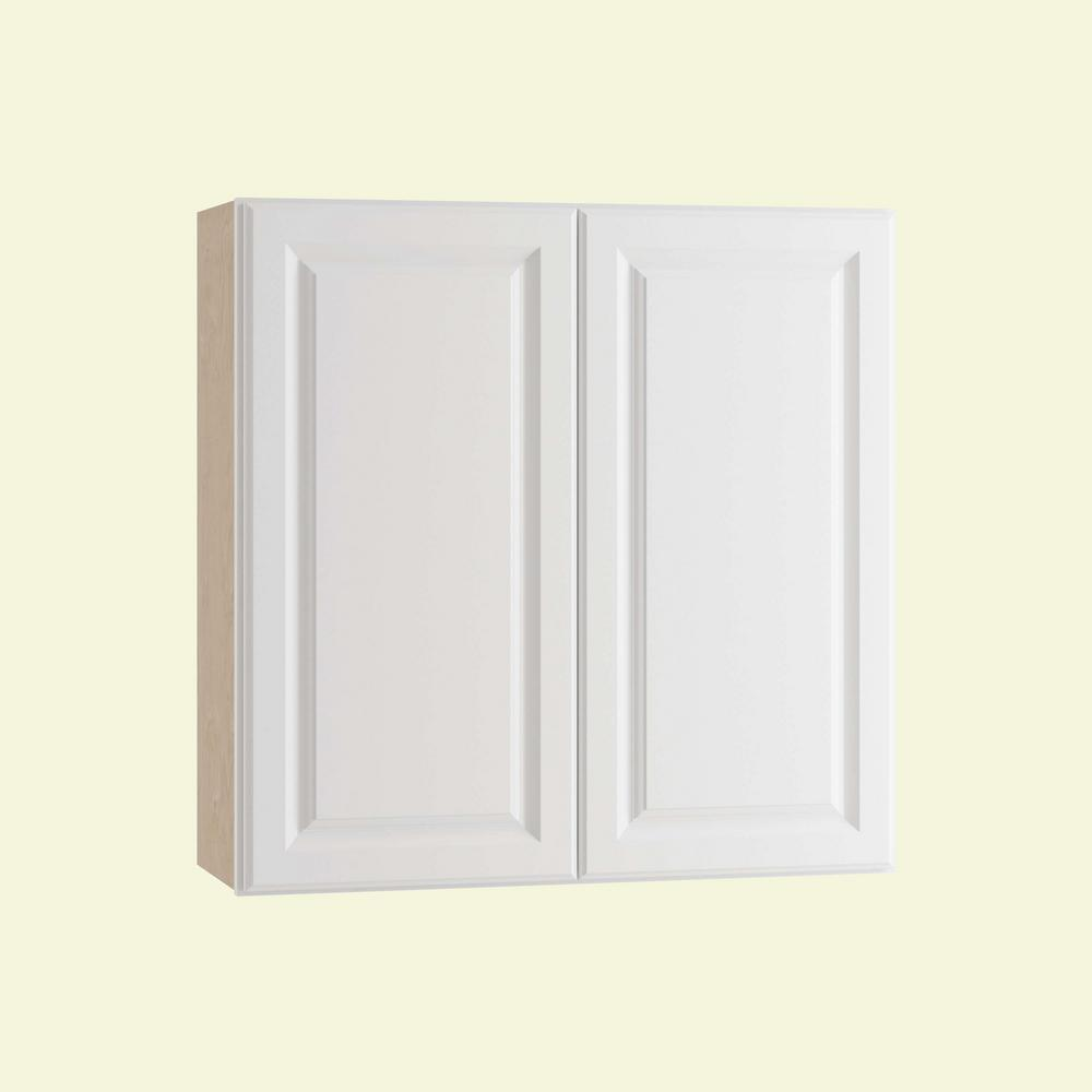 Home Decorators Collection Hallmark Assembled 30x30x12 in. Wall Kitchen Cabinet with Double Doors in Arctic White