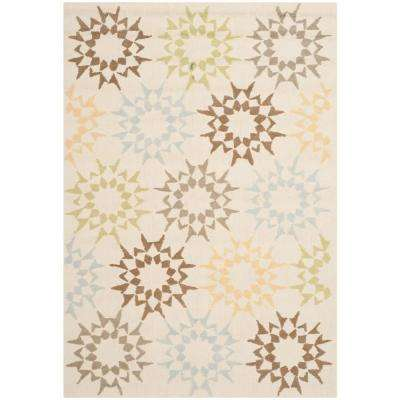 Cream 6 ft. x 9 ft. Area Rug