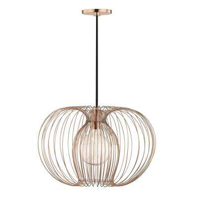 Jasmine 1-Light Polished Copper Large Pendant