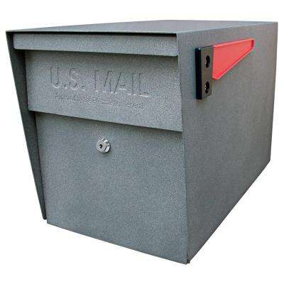 Locking Post-Mount Mailbox with High Security Patented Lock, Granite