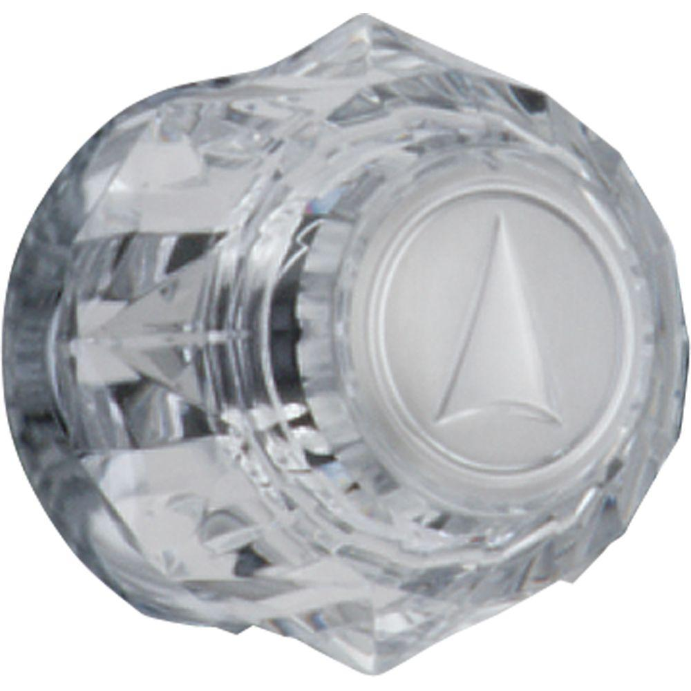 Delta Clear Knob Handle with Arrow Indicator in Chrome