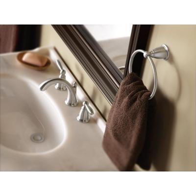 Brantford 3-Piece Bath Hardware Set with 18 in. Towel Bar, Paper Holder, and Towel Ring in Brushed Nickel