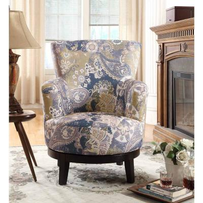 Zoey Swivel Flower Pattern Accent Chair