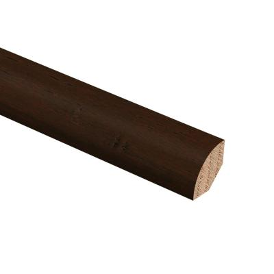 Hand Scraped Strand Woven Bamboo Brown 3/4 in. Thick x 3/4 in. Wide x 94 in. Length Hardwood Quarter Round Molding