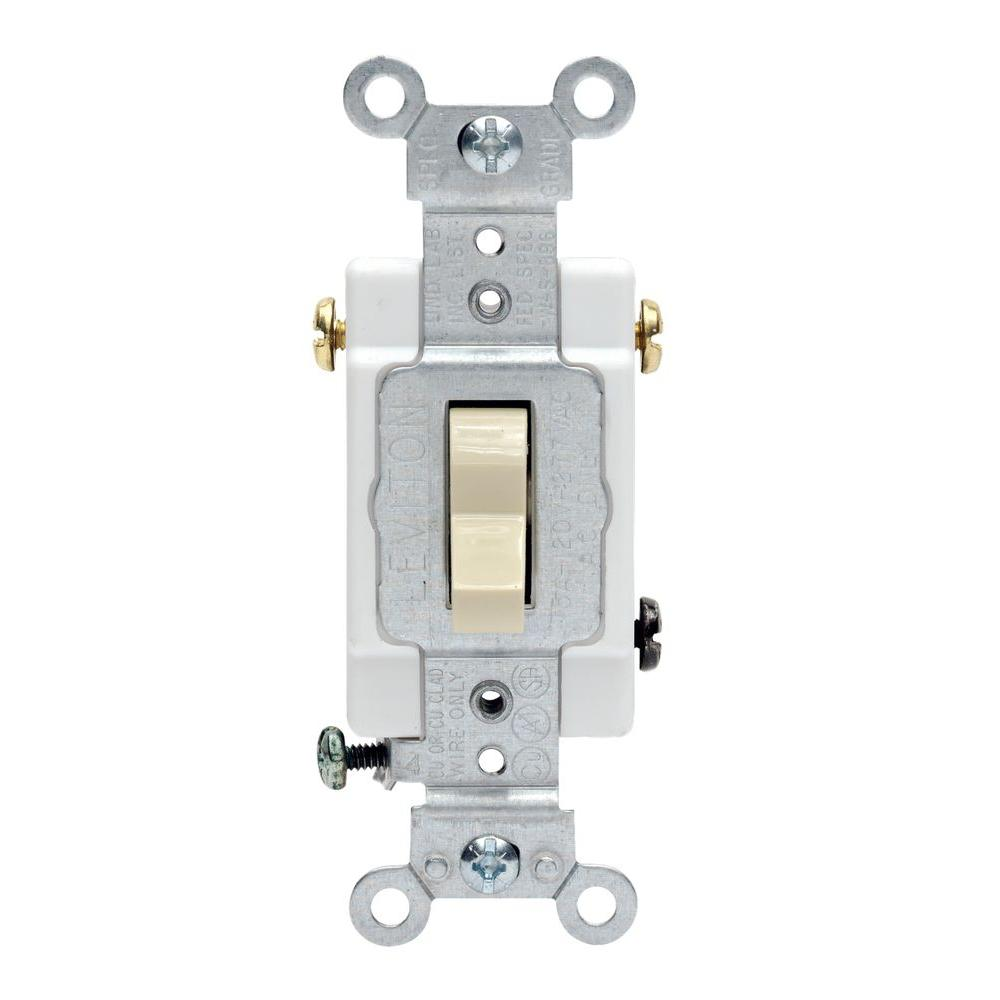 Leviton 20 Amp 3 Way Preferred Toggle Switch Ivory R51 0csb3 2is 4 Vs