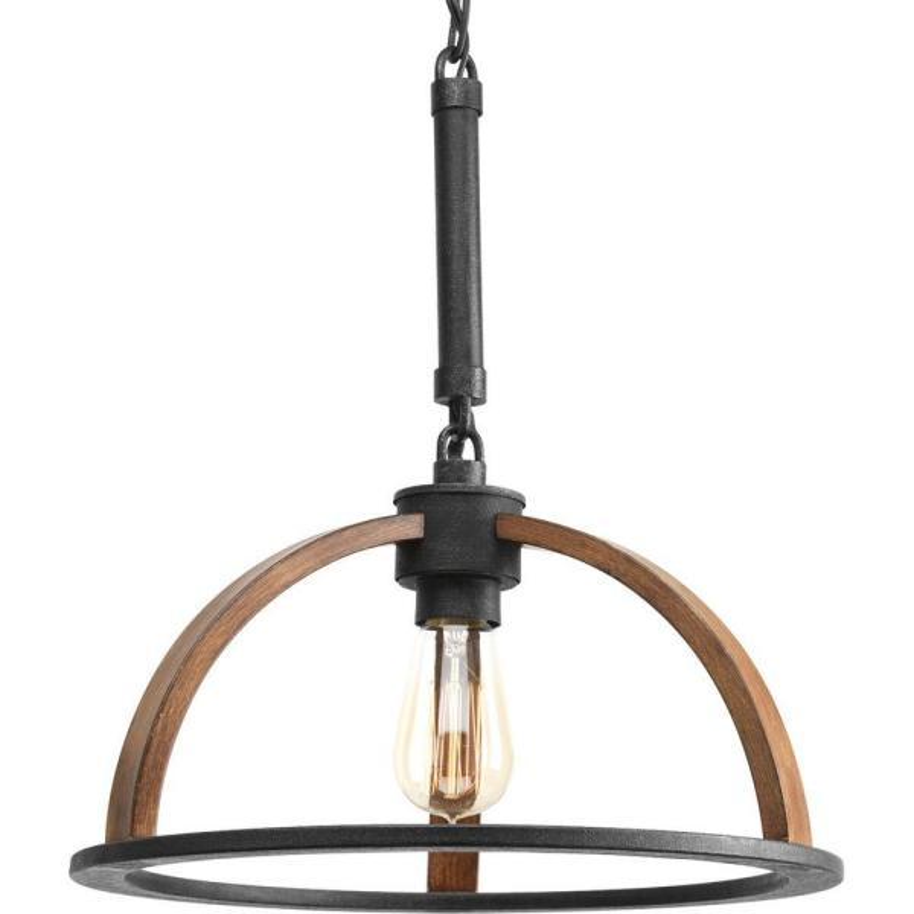 Trestle Collection 1-Light Gilded Iron Mini Pendant