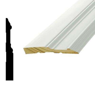 WP 5709 5/8 in. x 5-1/4 in. x 96 in. Primed Finger-Jointed Pine Base Moulding