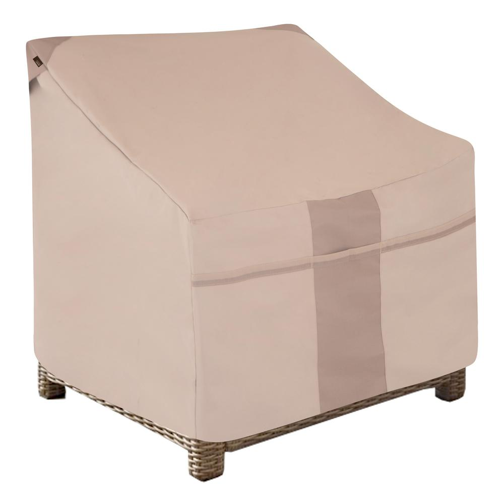Modern Leisure Monterey Water Resistant Outdoor Deep Seat Patio Chair Cover 38 In W X 40 In D X 31 In H Beige 2903 The Home Depot