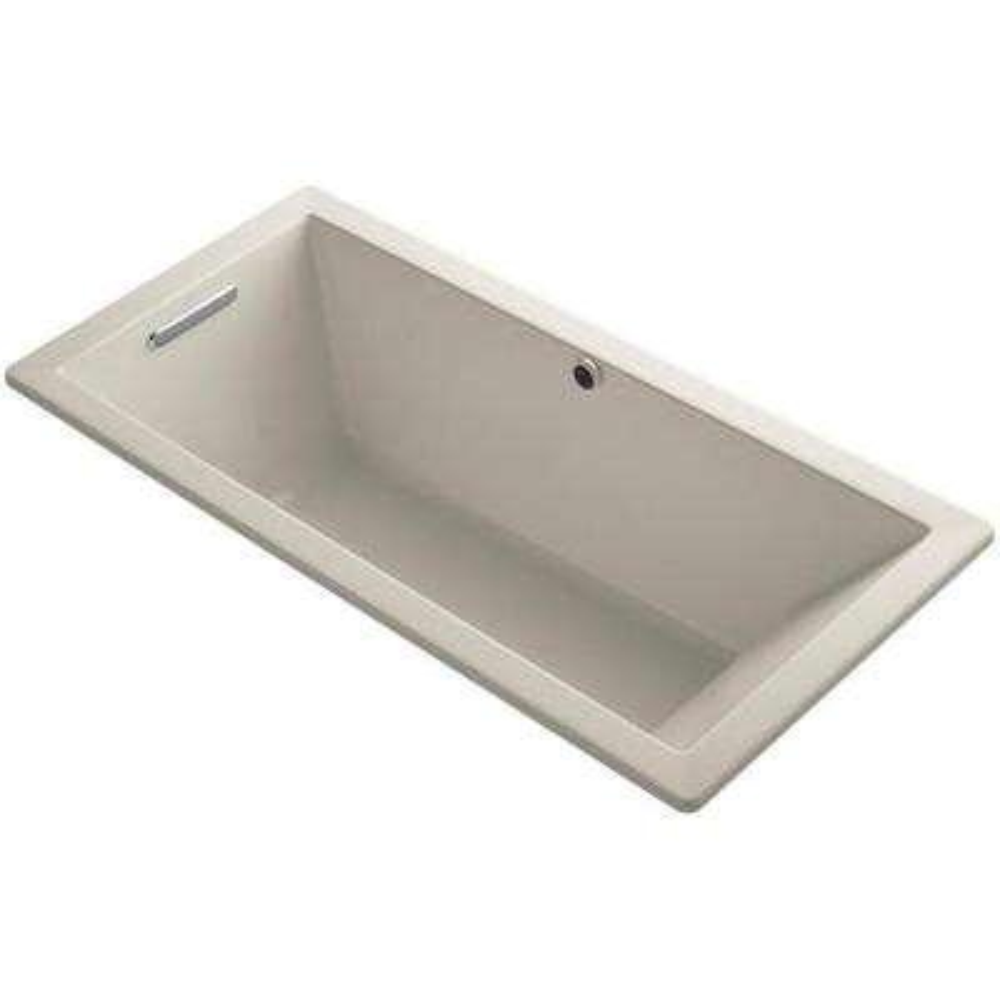 Underscore 5.5 ft. Reversible Drain Soaking Tub in Sandbar with Bask Heated Surface
