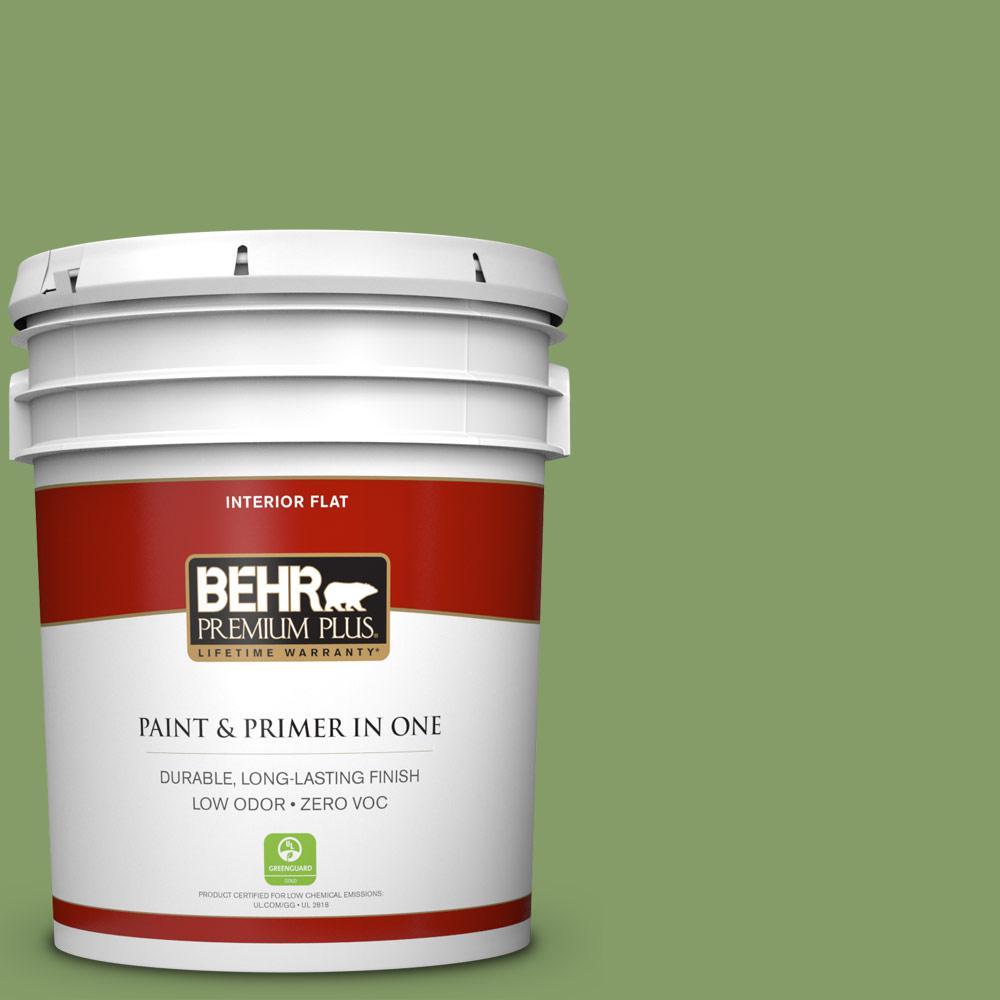 5 gal. #M370-5 Agave Plant Zero VOC Flat Interior Paint