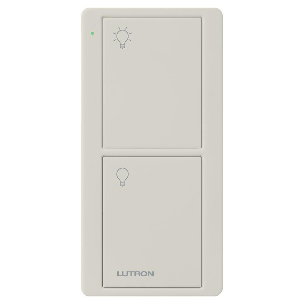 Lutron Wireless Switch >> Lutron 2 Button Pico Remote Control For Caseta Wireless Switch Light Almond