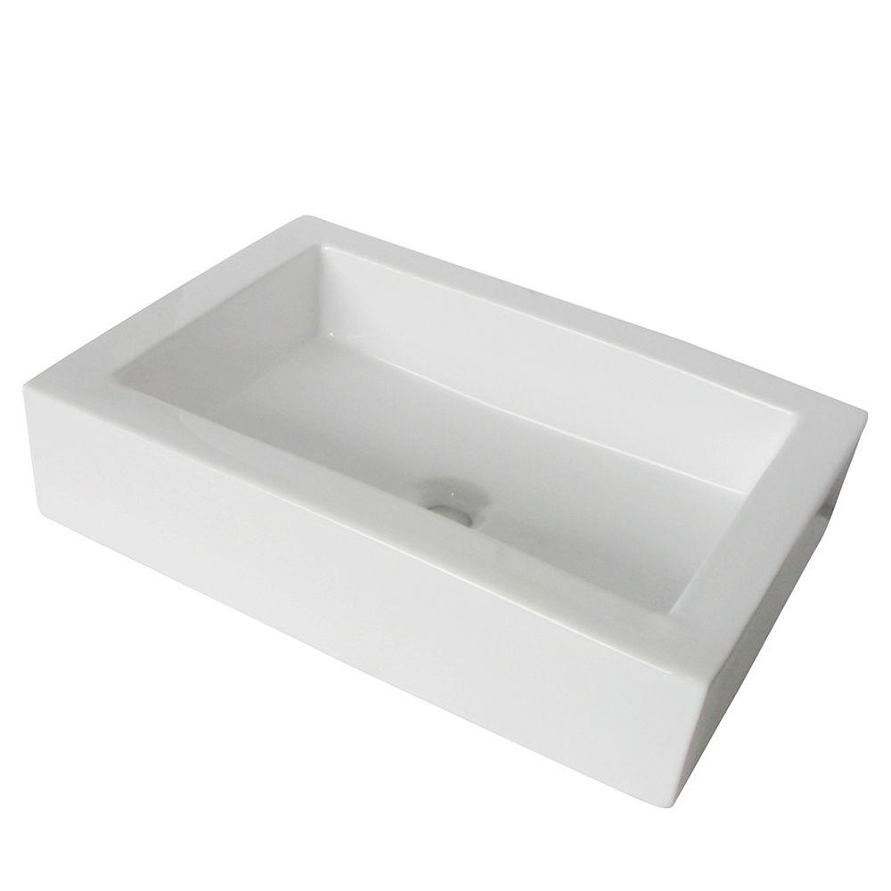 Kingston Brass Vitreous China Vessel Sink in White