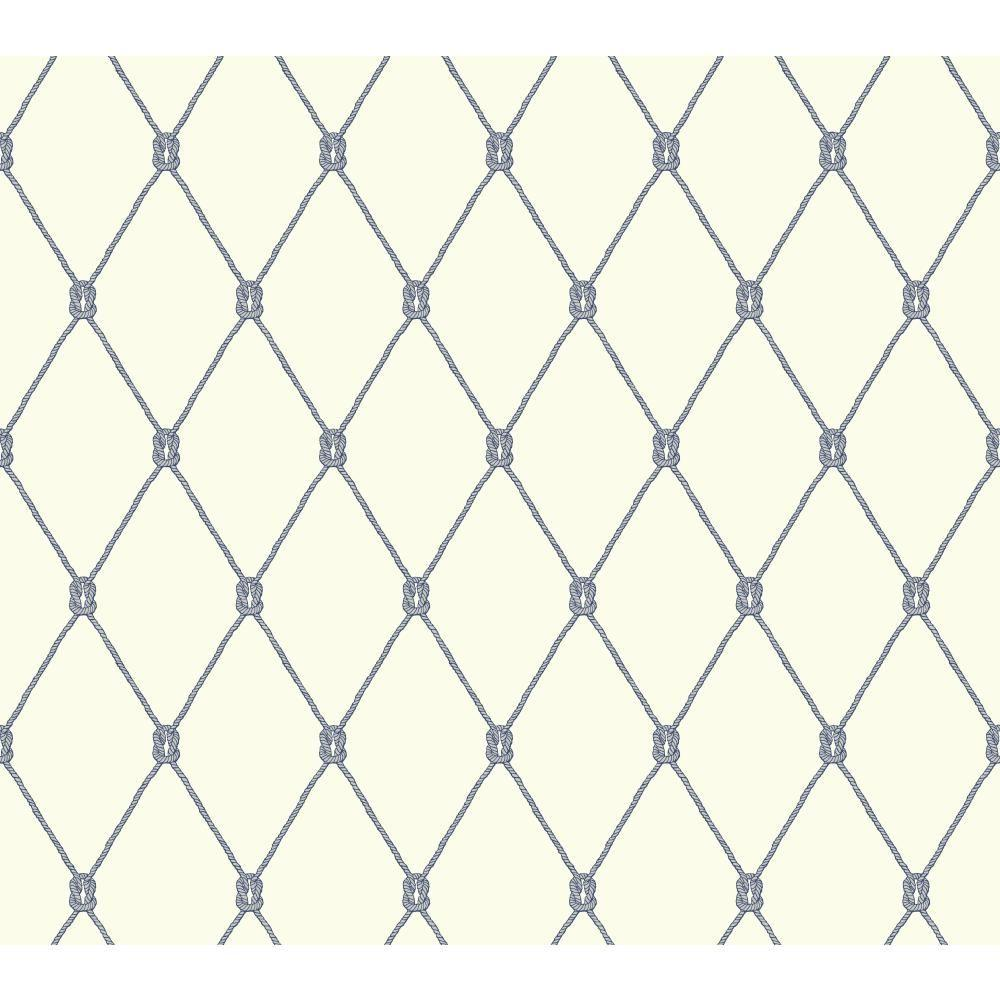york wallcoverings nautical living knot trellis wallpaper - Trellis Wall Paper