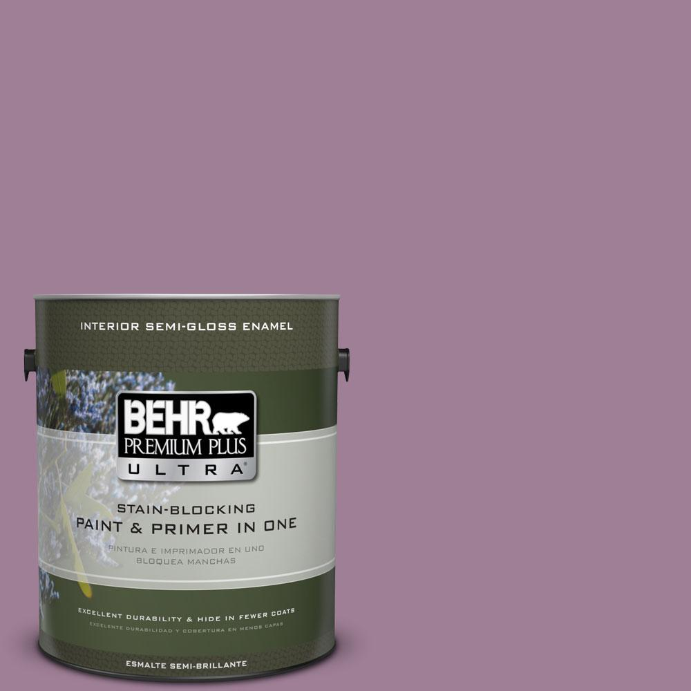 BEHR Premium Plus Ultra 1-gal. #PMD-82 Violet Bouquet Semi-Gloss Enamel Interior Paint
