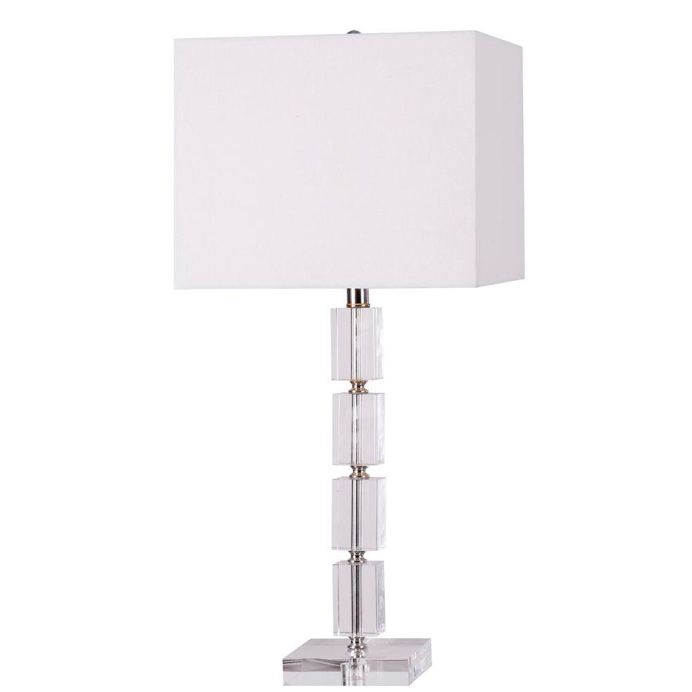 Kenroy Home Cubed 28 in. Clear Acrylic Table Lamp
