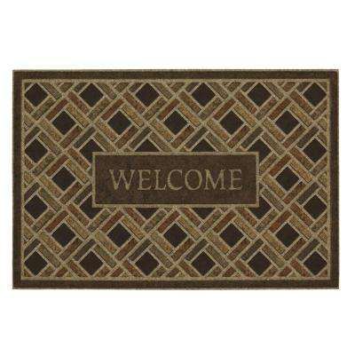 Woven Border Welcome Impressions 24 in. x 36 in. Door Mat