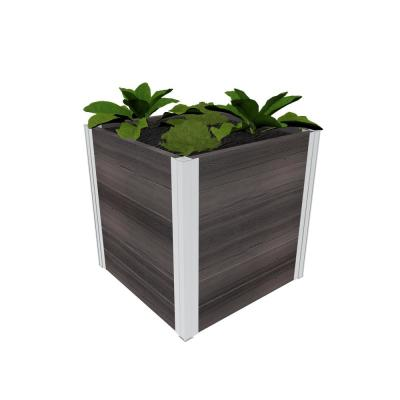 Urbana 22 in. x 22 in. x 22 in. Espresso Brown Vinyl Cube Planter