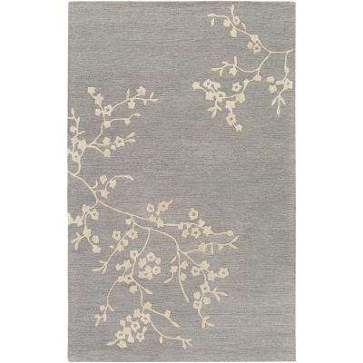 Alexander Smith Gray 9 ft. x 13 ft. Indoor Area Rug