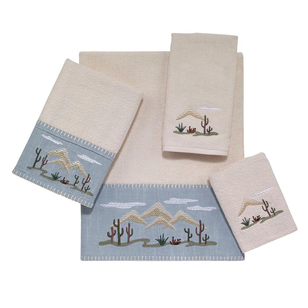 Cactus Landscape 4-Piece Bath Towel Set in Ivory