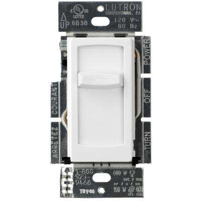 Skylark Contour Slide Dimmer for Dimmable LED Incandescent and Halogen Bulbs, Single-Pole, White