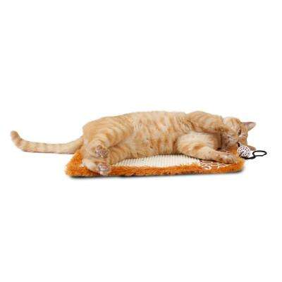 Brown Scrape-Away' Eco-Natural Sisal and Jute Hanging Carpet Cat Scratcher with Toy