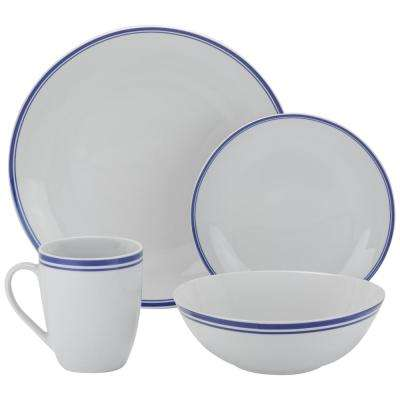 16-Piece Blue Coupe Dinnerware Set