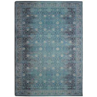 Legacy Distressed Boho Turquoise 7 ft. 6 in. x 9 ft. 6 in. Area Rug
