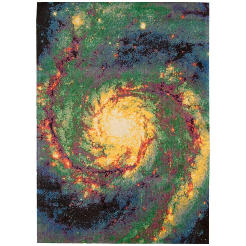 Nourison Altered States Galaxy Multicolor 4 ft. x 6 ft. Area Rug