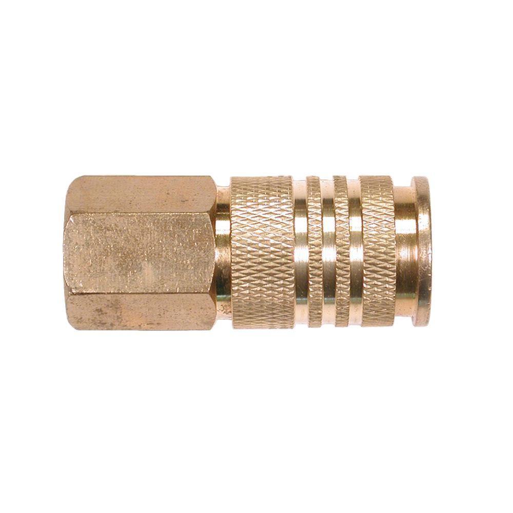 10-Piece 1/4 in. Brass 6-Ball Female Universal Coupler