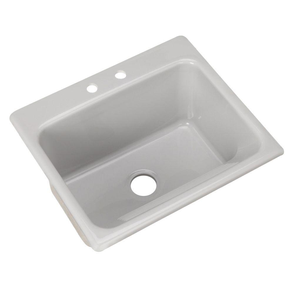 Kensington Drop-In Acrylic 25 in. 2-Hole Single Bowl Utility Sink in