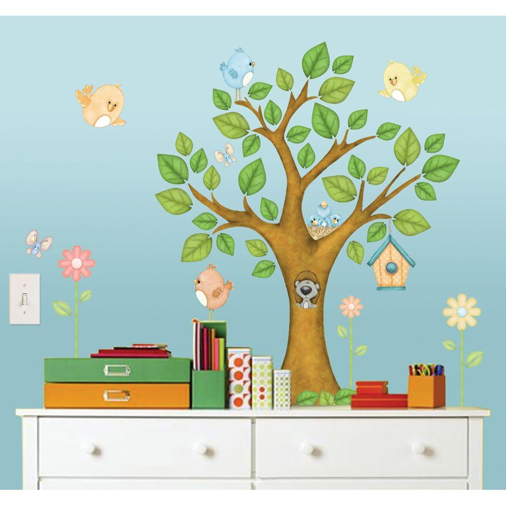 null 39 in. x 28.25 in. On the Tree Top Super Jumbo Wall Decal
