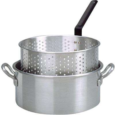 Aluminum Deep Fryer with Two Helper Handles and Punched Basket