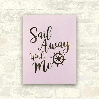 11 in. x 14 in. Sail Away With Me 1-Piece Boxed Flocked Plaque with Foil