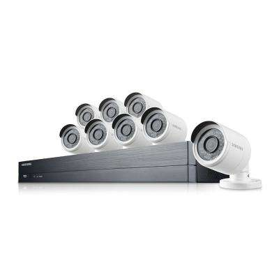 16x8-Channel 1080p Full HD Bullet Camera Indoor/Outdoor DVR System