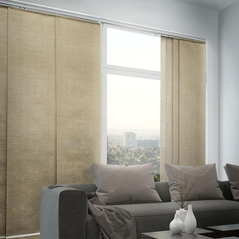 Chicology Adjustable Sliding Panel Cut To Length Curtain Drape Vertical Blind Natural Woven Privacy