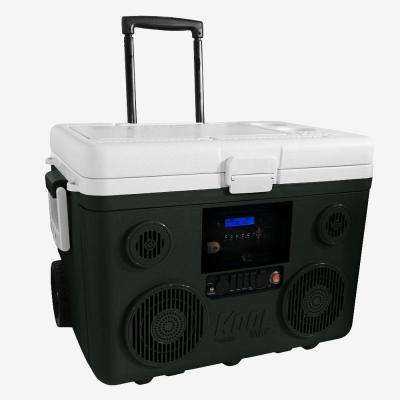 KoolMax 40 Qt. Gray Wheeled Cooler, Bluetooth PA System and Power Station